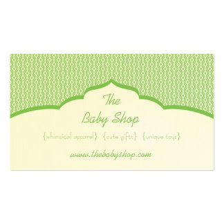 Refined Glam Business Card, Kelly Green