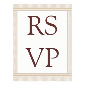 Refined Glam RSVP Card