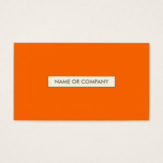 refined oranges business card
