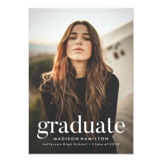 Refined | Photo Graduation Party Invitation