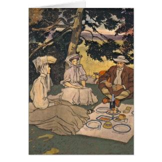 Refined Picnic 1904 Card
