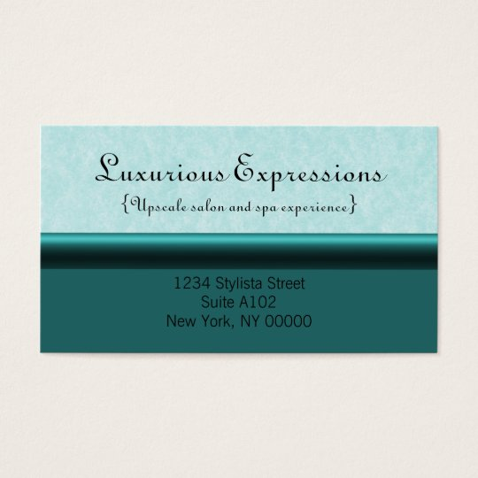 Refined Pro Business Card, Teal Business Card