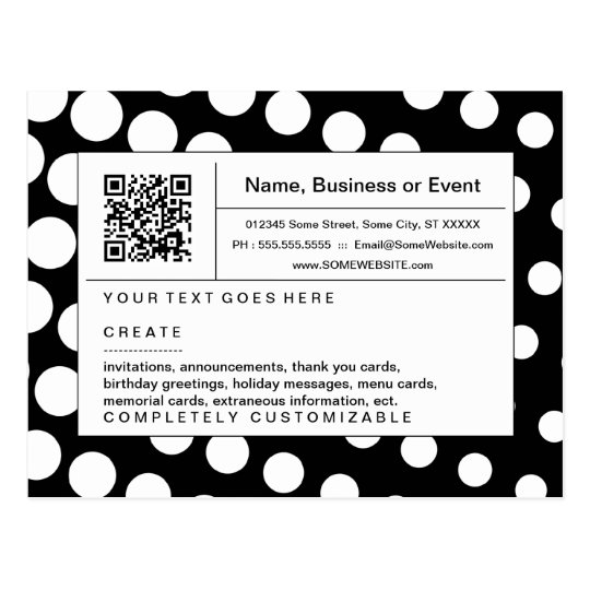 refined QR code : black and white halftone Postcard