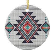 Refined Southwest Ceramic Ornament