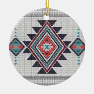 Refined Southwest Ceramic Ornament