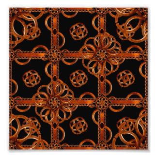 Refined Wood Decorative Pattern Art Photo