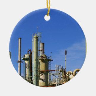 Refinería de petróleo ornamento para arbol de navidad