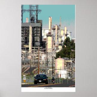 Refinería de petróleo póster