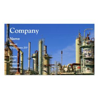 Refinería de petróleo tarjetas de visita