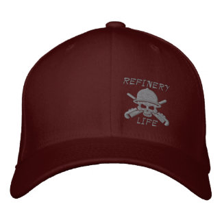 Refinery Life - Front only (gray stitching) Embroidered Baseball Cap