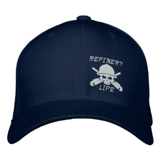 Refinery Life - Front only (white stitching) Embroidered Baseball Hat