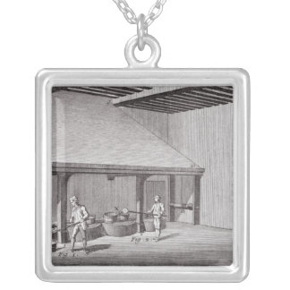 Refining saltpetre silver plated necklace