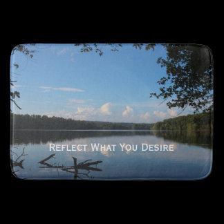 Reflect / Desire Quote Loch Raven Kitchen Mat /