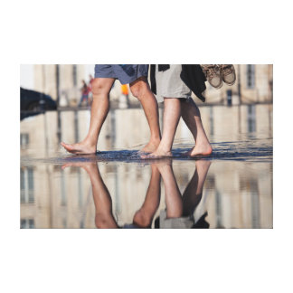 Reflect in the square of the bourse canvas print