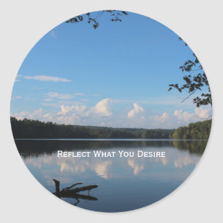 Reflect What You Desire Quote Envelope Seals / Classic Round Sticker