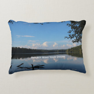 Reflect What You Desire Quote Loch Raven Reservoir Accent Pillow