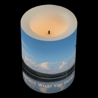 Reflect What You Desire Quote Loch Raven Reservoir Flameless Candle