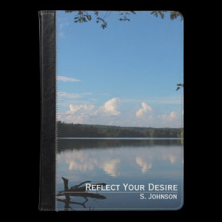 Reflect What You Desire Quote Loch Raven Reservoir iPad Air Case