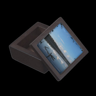 Reflect What You Desire Quote Loch Raven Reservoir Keepsake Box