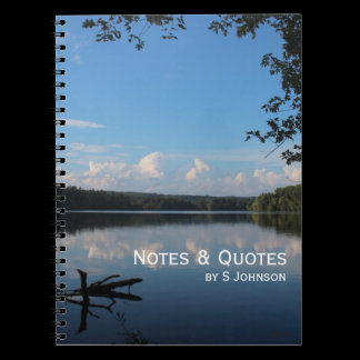 Reflect What You Desire Quote Loch Raven Reservoir Notebook
