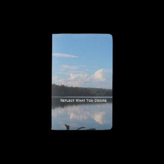 Reflect What You Desire Quote Loch Raven Reservoir Pocket Moleskine Notebook