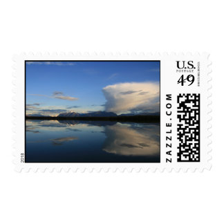 Reflected Clouds in Alaska Postage Stamp