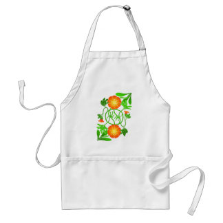 Reflected flower with entwined stems adult apron