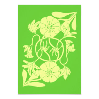 Reflected flower with entwined stems invitation