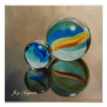 Reflected Marbles 11x11 Print