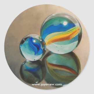 Reflected Marbles Sticker