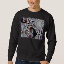 Reflected Silver Spiral Fractal Sweatshirt