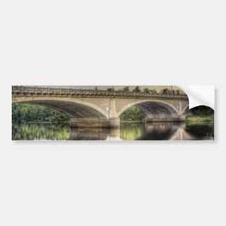 Reflecting Bridge Bumper Sticker