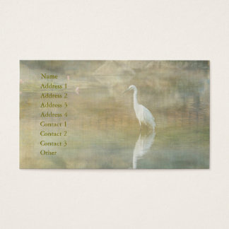 Reflecting Egret Business Card