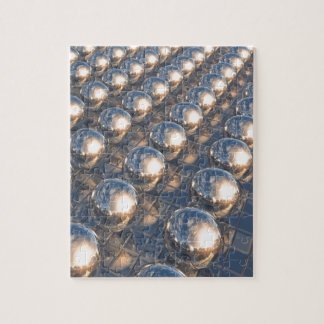 Reflecting Metal Spheres Jigsaw Puzzle