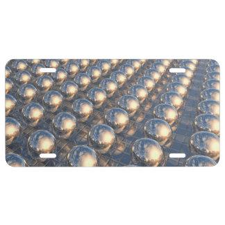 Reflecting Metal Spheres License Plate
