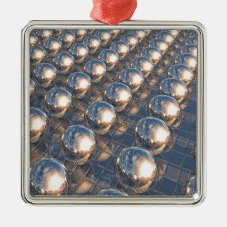 Reflecting Metal Spheres Metal Ornament