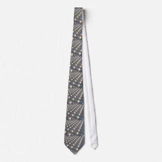 Reflecting Metal Spheres Neck Tie