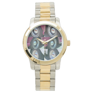 Reflecting Moons Gold and Silver Tone Watch