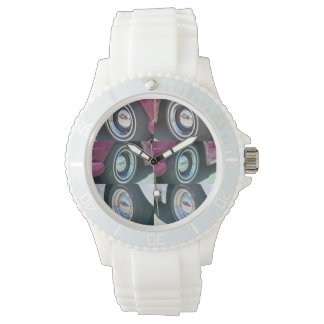 Reflecting Moons Sporty with White Strap Watch
