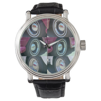 Reflecting Moons Vintage Leather Strap Watch