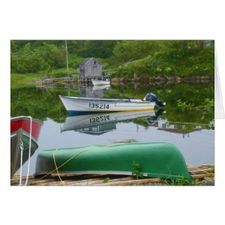 Reflecting on Boats in Burgeo Card
