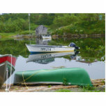 Reflecting on Boats in Burgeo Cut Out
