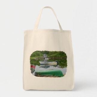 Reflecting on Boats in Burgeo Tote Bag