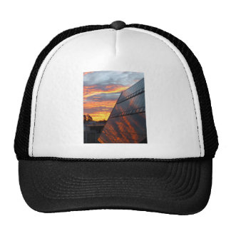 Reflecting on the Sunset Trucker Hat