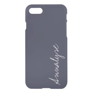 Reflecting Pond Deep Blue Solid Color Custom iPhone 8/7 Case