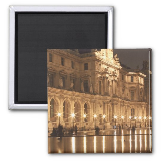Reflecting pool at the Louvre, Paris, France Magnet