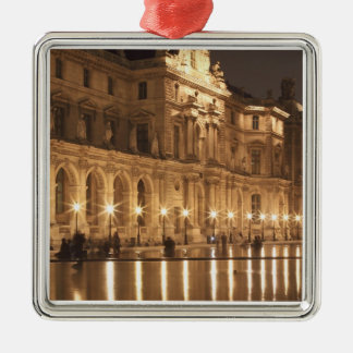 Reflecting pool at the Louvre, Paris, France Metal Ornament