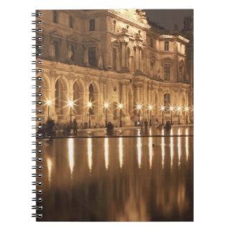 Reflecting pool at the Louvre, Paris, France Notebook