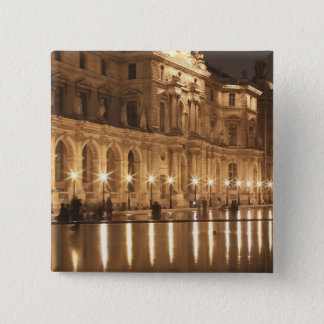 Reflecting pool at the Louvre, Paris, France Pinback Button