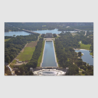 reflecting pool from Washington Monument.jpg Rectangle Sticker